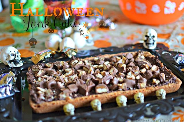 Halloween Junk Cake #Recipe #SpookyCelebration #Shop #Cbias
