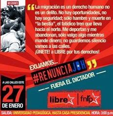 27 de enero: Gran movilización FNRP y LIBRE