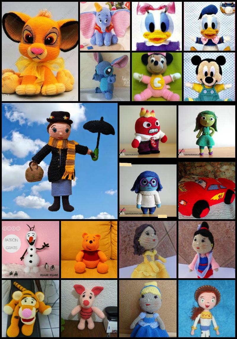 Amigurumi Personajes De Disney : 40 personajes Disney con patron gratis en castellano ...
