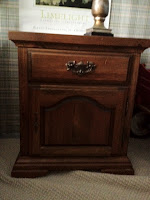 stained wood night stand early American Sytle