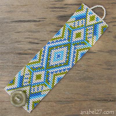 купить браслет из бисера с орнаментом анабель