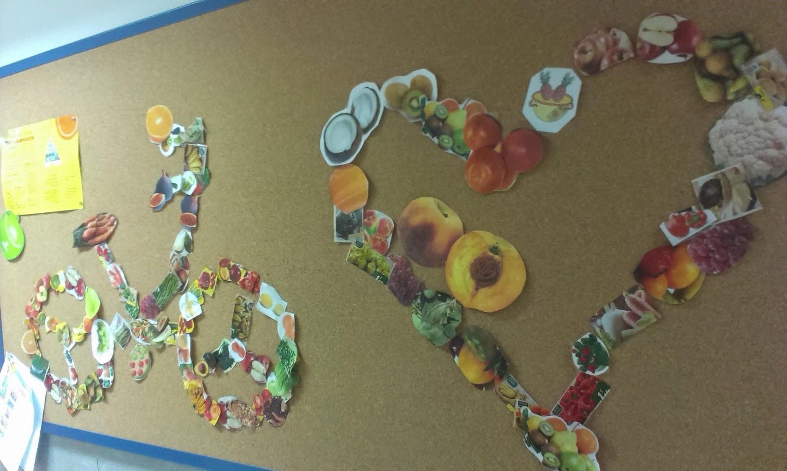 Educación Física: Nuestro mural de alimentación saludable
