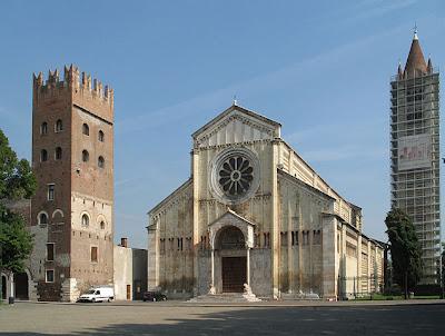 Basílica San Zeno Maggiore en Verona, foto de Manfred Heyde Lic. CC