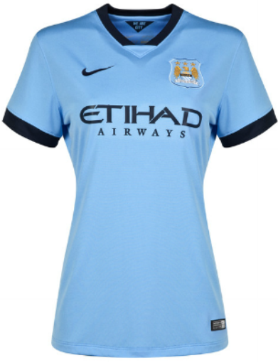 Gambar Jersey GO Ladies Manchester City Home 2014 - 2015