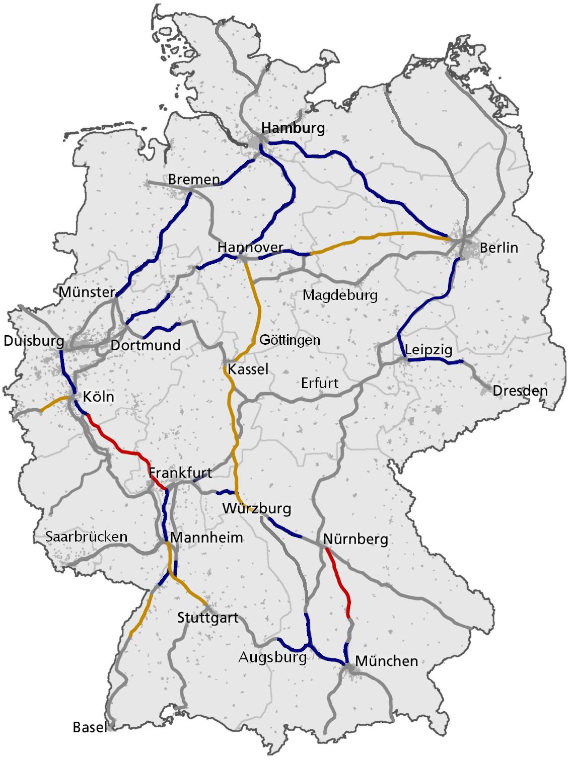 treinen duitsland kaart