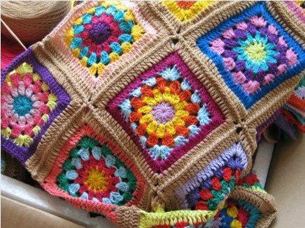 Relas crochet coperta all 39 uncinetto l 39 effetto patchwork for Piccoli piani di coperta