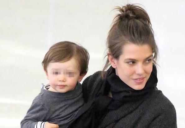 Charlotte Casiraghi and his son Raphael Elmaleh