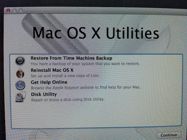 Restore mac new hard drive