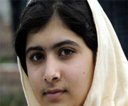 14-year-old Malala who was shot