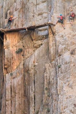 Jalan setapak Paling berbahaya di dunia : El Caminito del Rey, Malaga, Spanyol