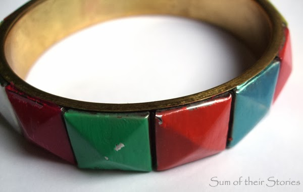 Geometric Bangle Refashion - pin fail!