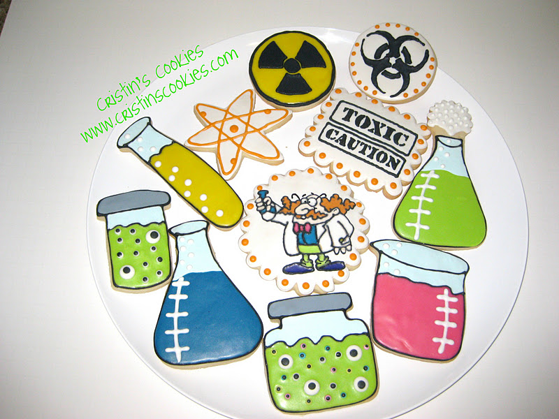 picture regarding Printable Mad Science Sign identify Cristins Cookies: Insane Scientist Halloween Cookies A No cost