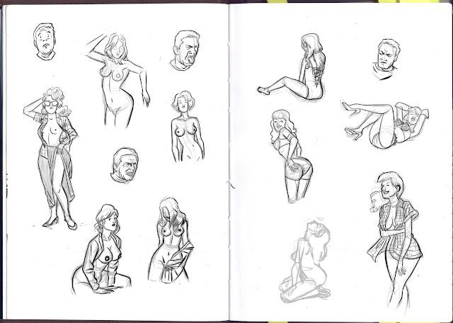 Bocetos de desnudos de chicas de Miguel Porto