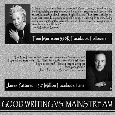 Toni Morrison vs James Patterson Quotes and Fans