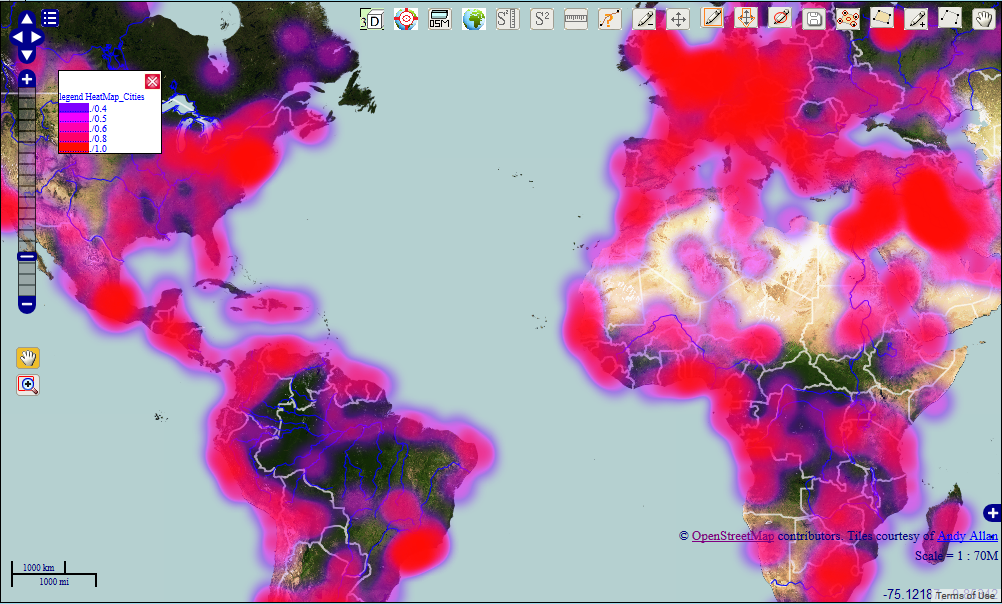 Openwebgis is free online gis how to create a heatmap on the map how to create a heatmap on the map using javascript openlayers and canvas gumiabroncs Image collections