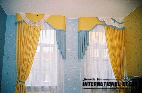 kids curtains for nursery, yellow curtains