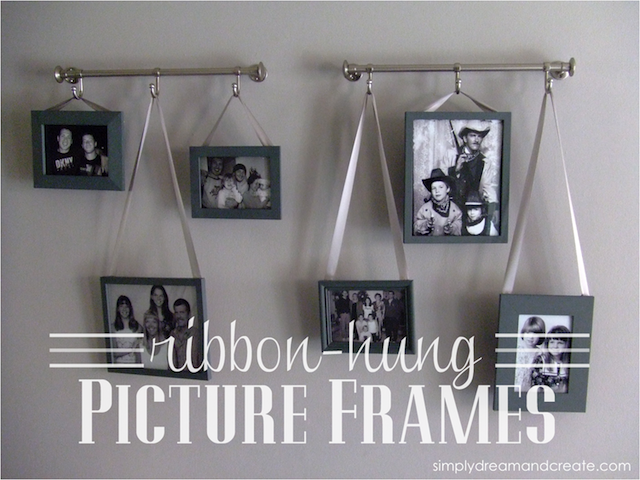 Simply Dream Create Ribbon Hung Picture Frames