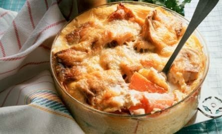 Sweet Potato Gratin with Shallots and Gouda (Recipe)