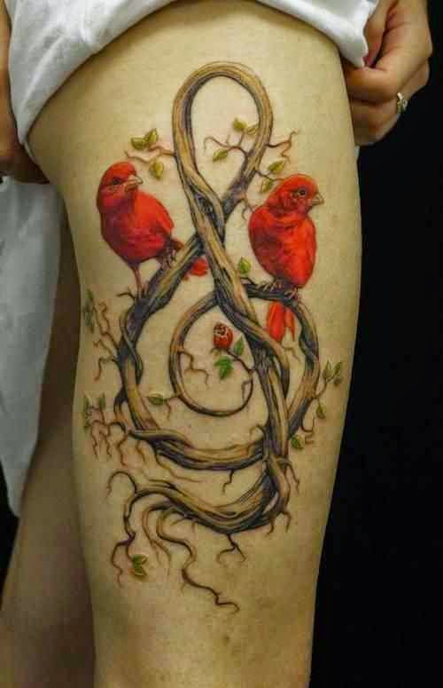 ♥ ♫ ♥ Insanely Gorgeous Hip Nature Tattoos for Girls ♥ ♫ ♥