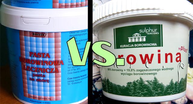 Porównanie borowiny od Sulphur Busko-Zdrój z borowiną od Biochem z Bochni