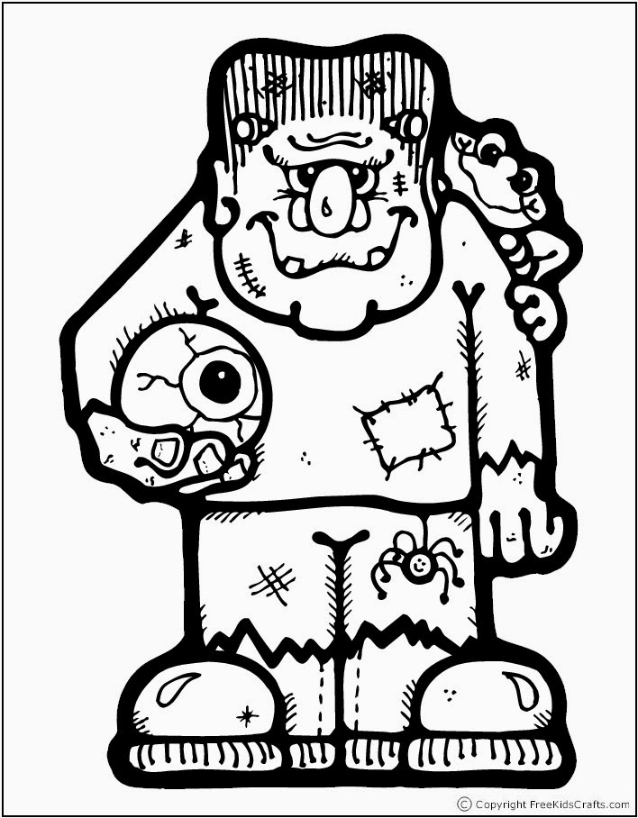 Halloween coloring pages free printable minnesota miranda for Frankenstein coloring pages to print