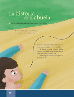 Apoyo Primaria Español Lecturas 6to Grado La historia de la abuela
