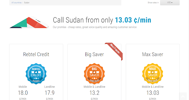 cheap calls to Sudan by Rebtel