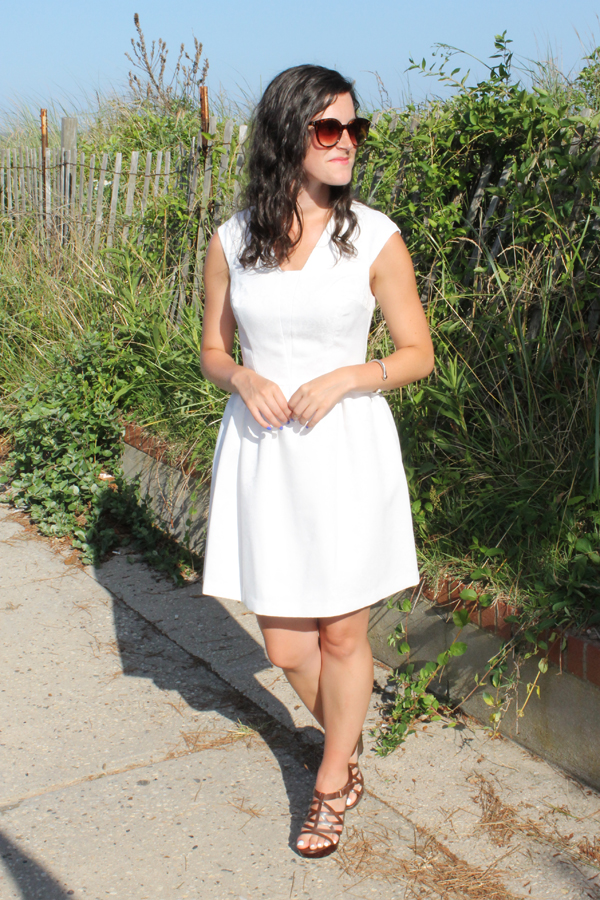 beach, LWD, little white dress, white dress, Dorothy Perkins, boardwalk
