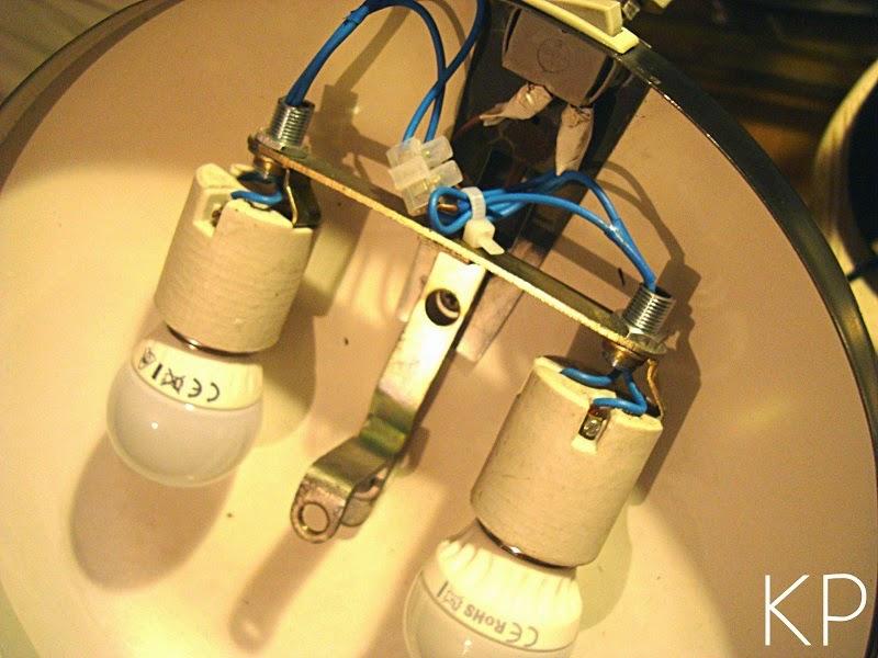 Restauración de lámparas de diseño años 50