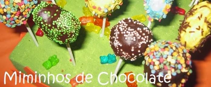 miminhos de chocolate