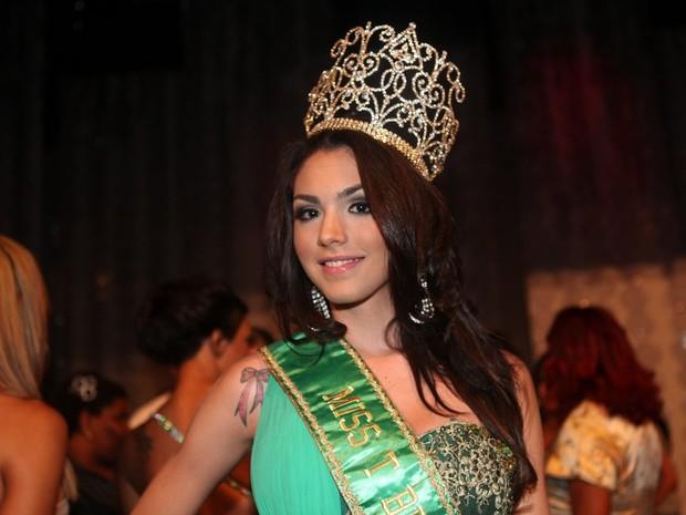 Marcela Ohio é a vencedora do Miss T Brasil 2012 (Foto: Rodrigo Gorosito)