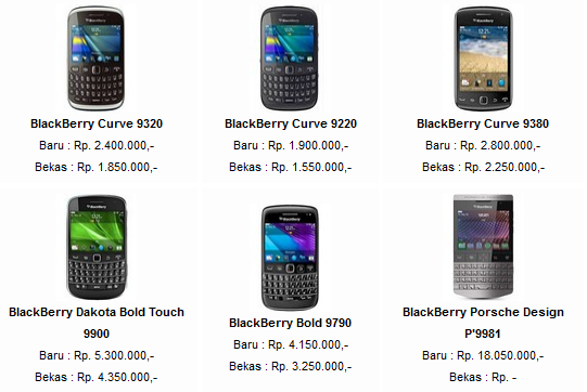 Daftar Harga Blackberry Murah Terbaru 2013