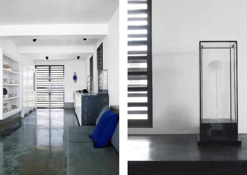 casa en el Caribe con decoración minimalista