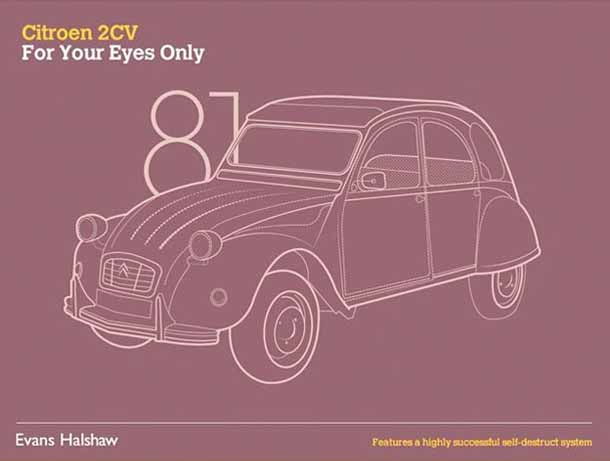 Carros James Bond - 007 - Citroen 2CV - For your Eyes Only