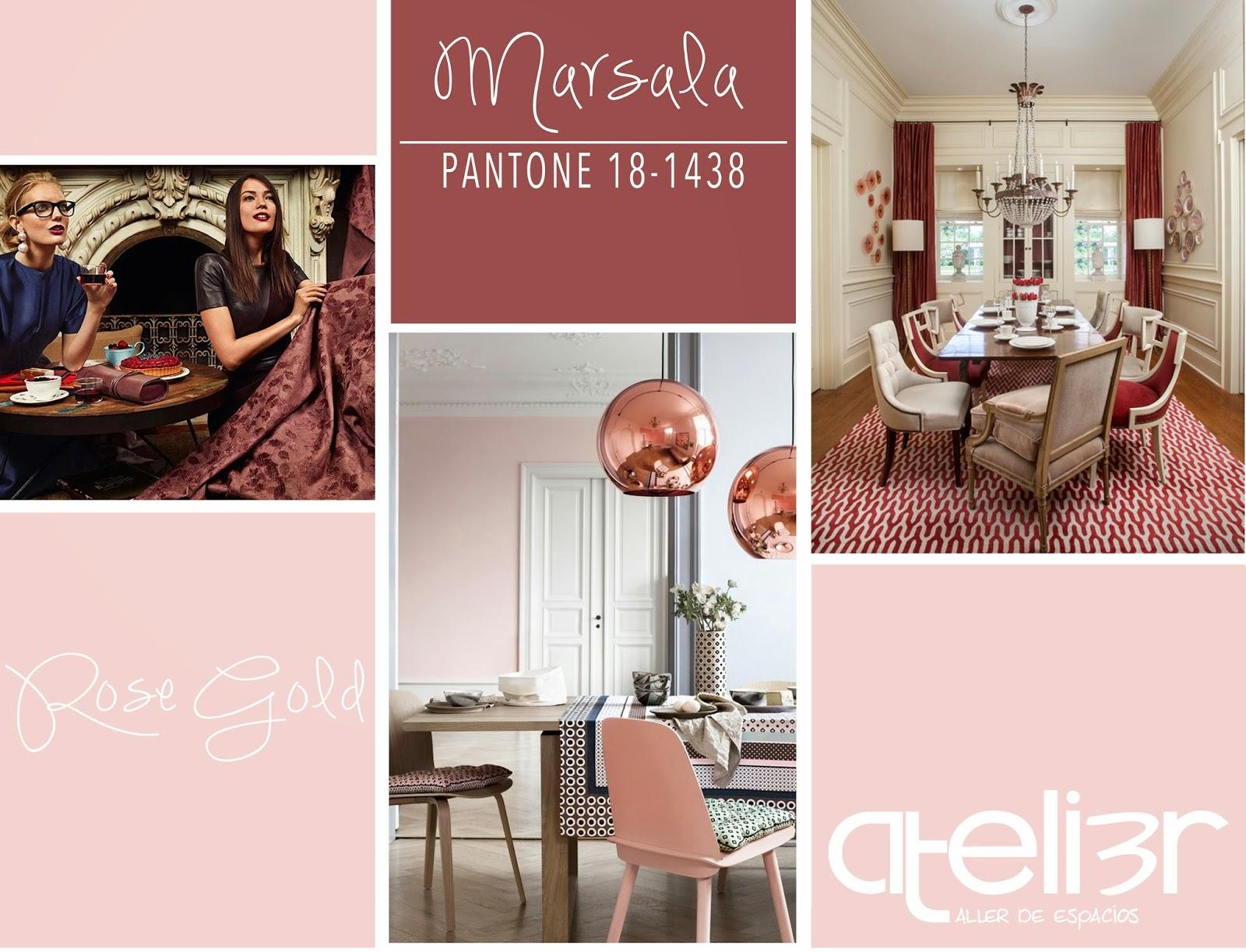 Pantone 2015, Marsala, rose gold, oro rosado,interior design guatemala, interiores guatemala, guatemala diseño de interiores, diseño de interiores guatemala, decoración guatelamala, Atelier Taller de Espacios