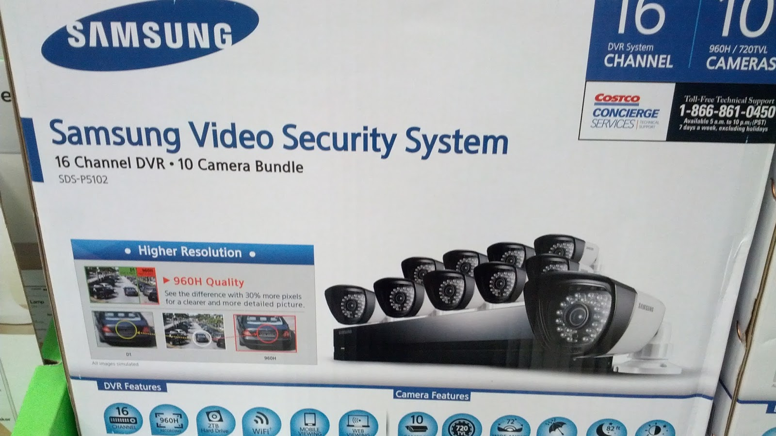 Samsung SDS-P5102 Video Security and Surveillance System | Costco ...