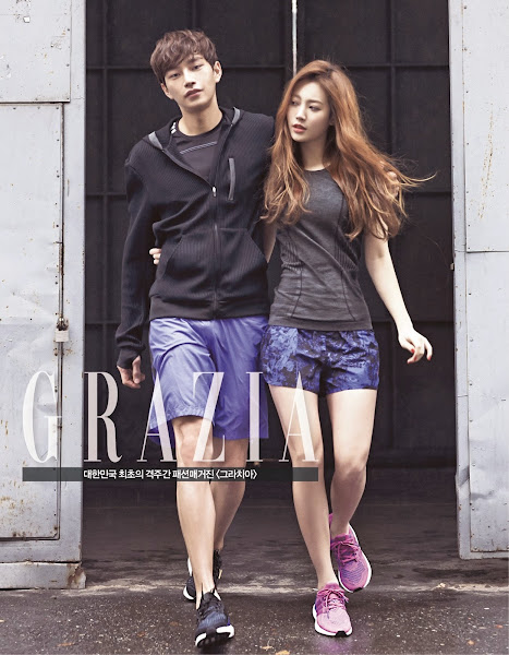 Yura of Girl's Day for adidas running in Grazia