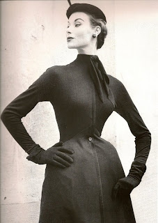Dior New Look Black Dress 1952