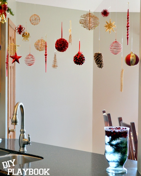 Hanging ornaments look great over your sink or in another spot in your home.