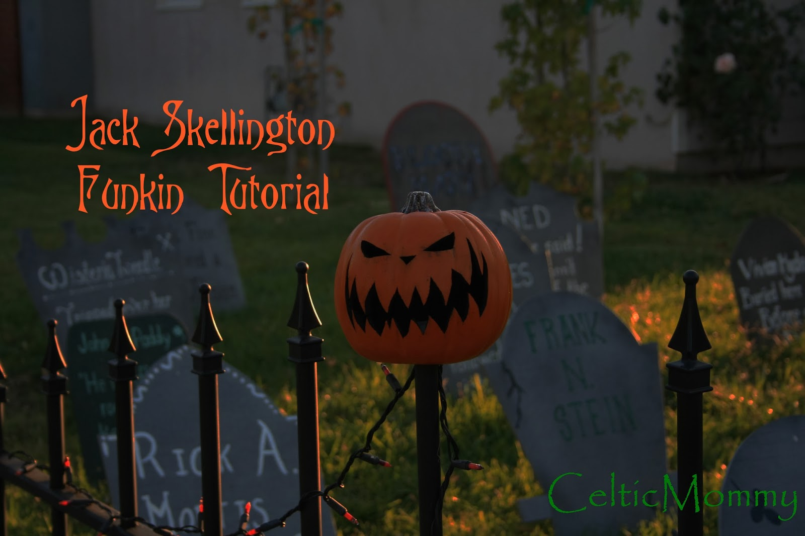CelticMommy: Tutorial: How to make Nightmare Before Christmas Pumpkins