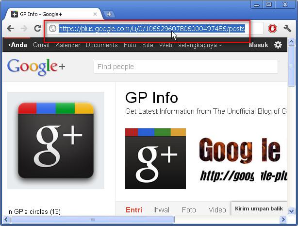 Google+ Profile URL