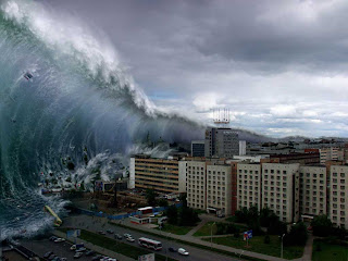 gambar proses tsunami