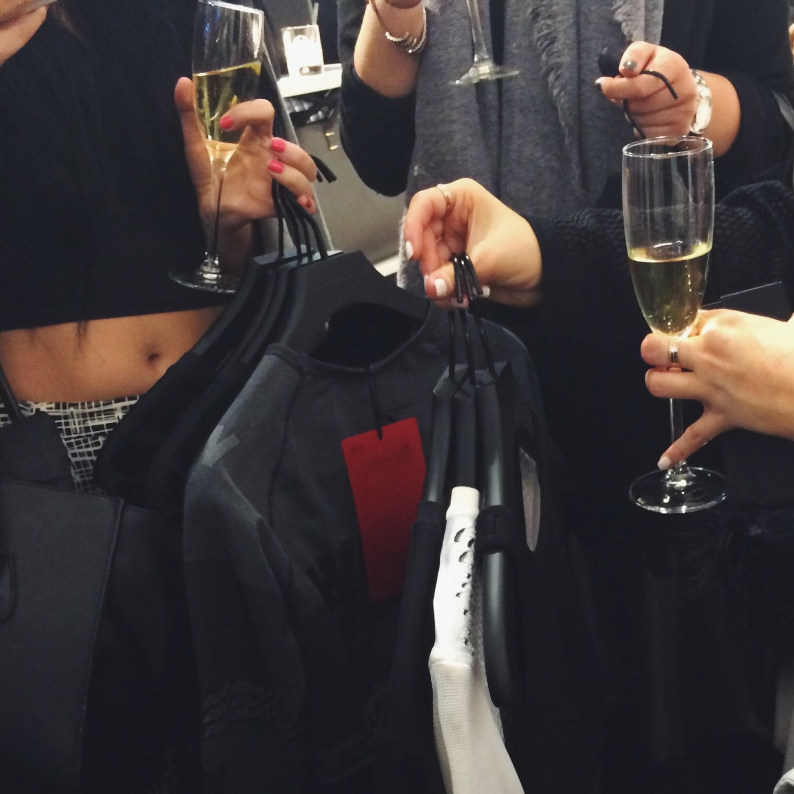 Alexander Wang x H&M Launch, prosecco & clothes