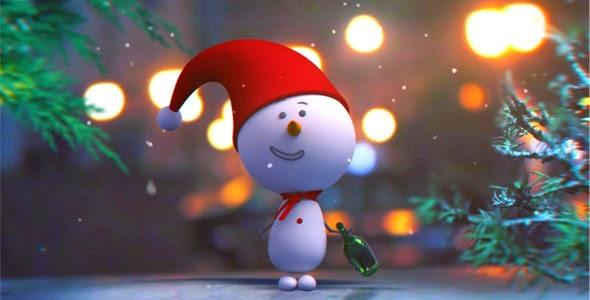 VideoHive Snowman Intro