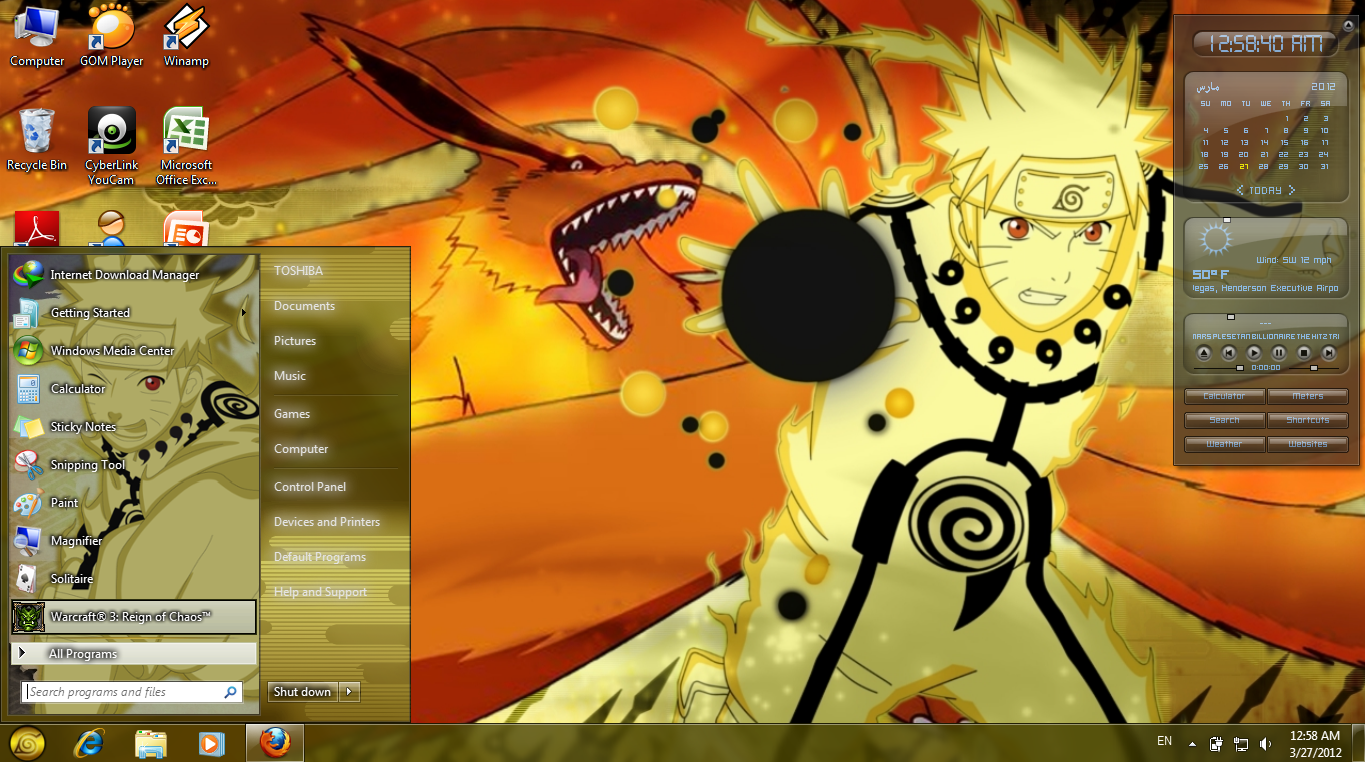 Naruto themes download