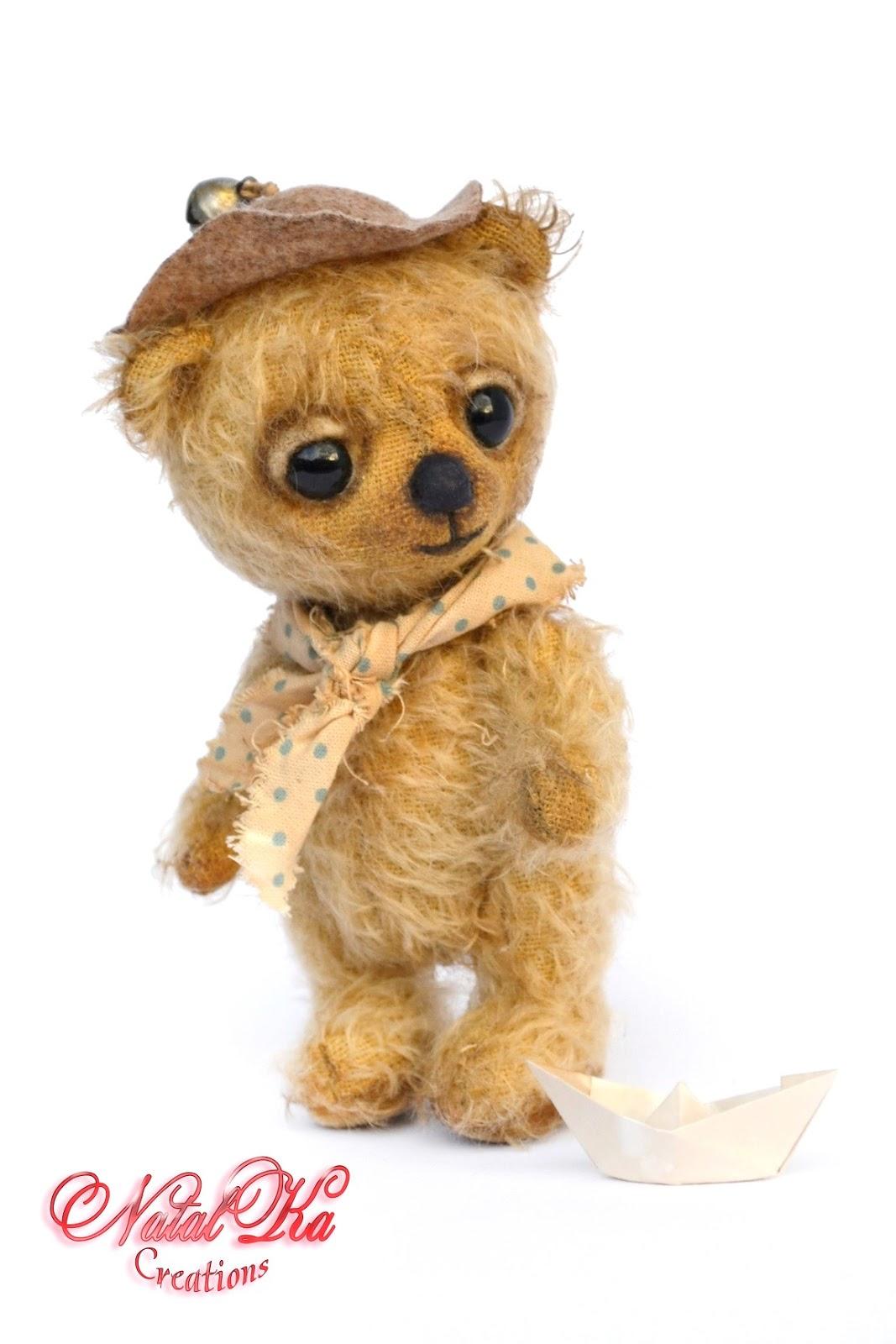 Artist teddy bear, artist bear, teddy bear, ooak, artist bear jointed, mohair, handmade by NatalKa Creations. Künstlerbär, Künstlerteddy, Teddybär, Teddy, Unikat, handgemacht von NatalKa Creations