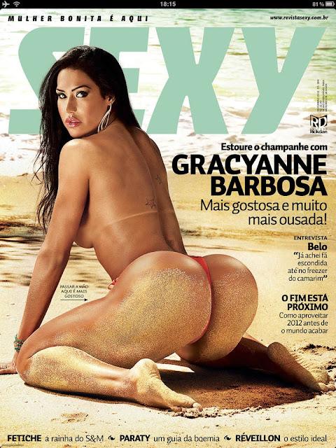 Confira as fotos da Gostosa e Ousada, Gracyanne Barbosa, capa da Sexy de Dezembro de 2011!