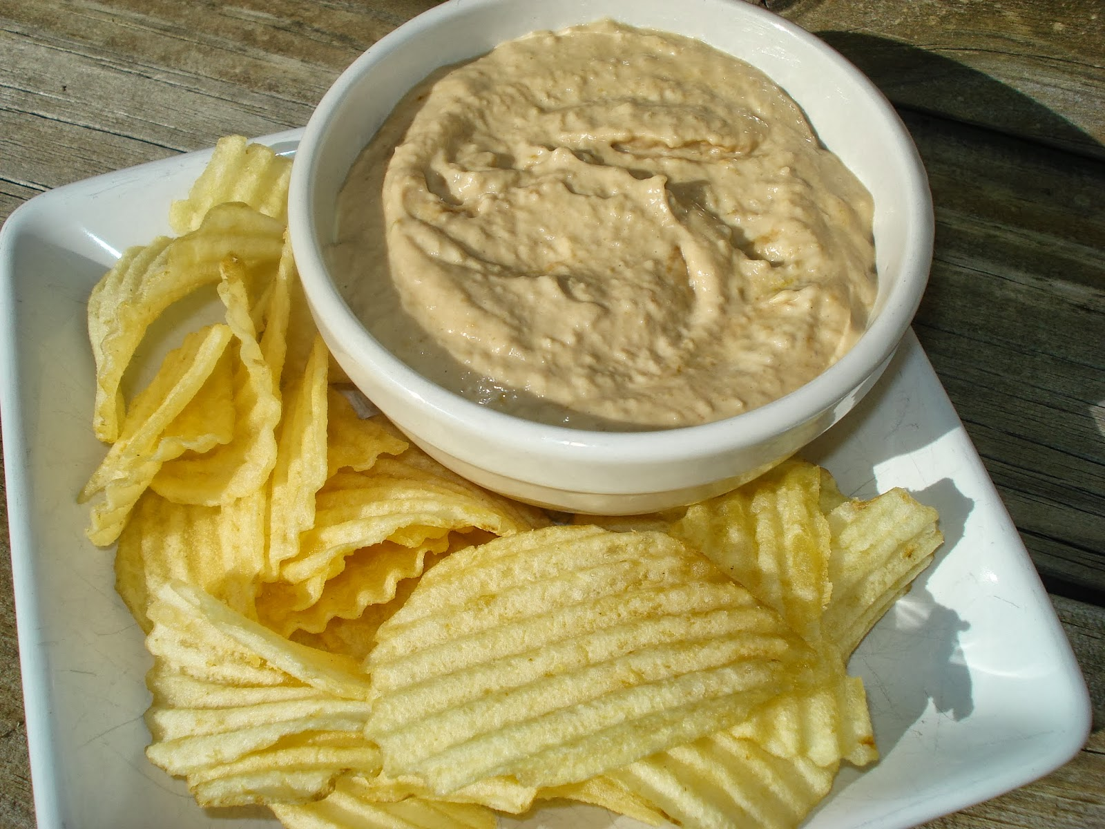 used to love eating wavy potato chips and onion dip