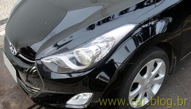Hyundai Elantra 2012 GLS 1.8L Automático - faróis