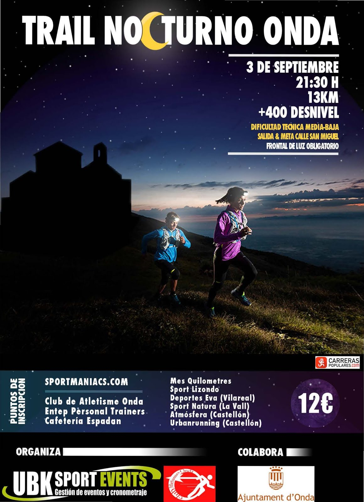 Información Trail nocturno 3 de Septiembre